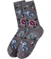 natori women's woodland fashion crew socks
