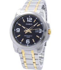 reloj casio hombre ref. mtp 1314sg-1a calendario original