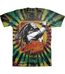 bob marley and the wailers tie dye shirt  rasta  reggae jah   plus size