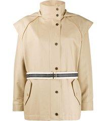 sandro paris belted lightweight jacket - neutrals
