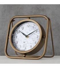 zegar stołowy metalowy mapa świata