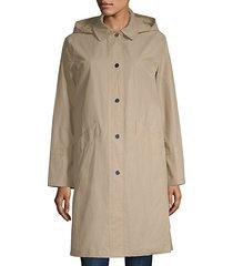 hooded waxed jacket