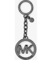 mk portachiavi con logo - canna di fucile (grigio) - michael kors