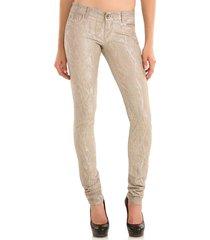 starlet skinny silver - guess - broeken - beige
