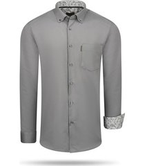 overhemd cappuccino italia regular fit overhemd antraciet