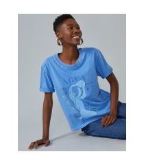 amaro feminino t-shirt elemento água, azul