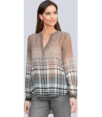 blouse alba moda offwhite::grijs::taupe
