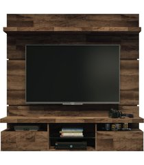painel home suspenso 1.6 para tv atã© 55 sala de estar lennon deck - gran belo - marrom - dafiti