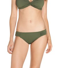 women's tommy bahama side shirred hipster bikini bottoms