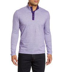 men's robert graham antonio henley pullover, size xx-large - purple