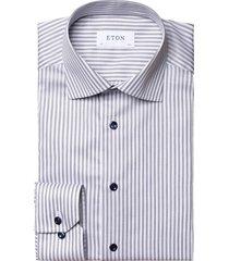 gestreept overhemd eton contemporary fit