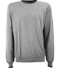 fay grey cotton sweater