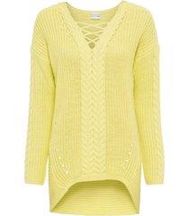 maglione a trecce (giallo) - bodyflirt