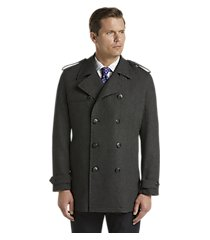 reserve traditional fit double breasted herringbone wool blend coat clearance