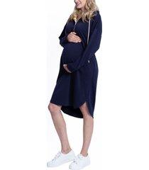 blooming women by angel maternity and nursing hoodie dress