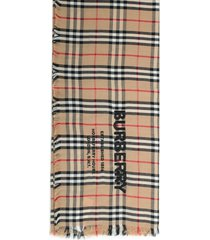 burberry scarf w/embroidery logo