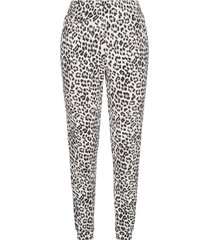alice + olivia shavon leopard print cotton trousers