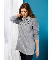 sweatshirt m. collection grijs