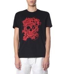 alexander mcqueen ivy skull t-shirt