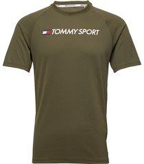training top mesh logo t-shirts short-sleeved grön tommy sport