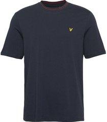 branded ringer tshirt t-shirts short-sleeved blå lyle & scott