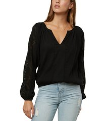 o'neill juniors' lariviere lace-inset top