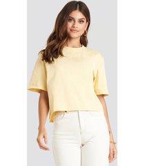 na-kd basic oversize t-shirt - yellow
