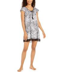 ellen tracy printed short-sleeve sleepshirt nightgown