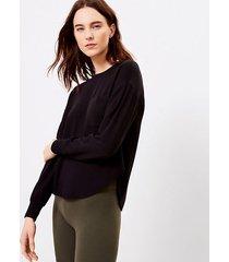 loft lou & grey signature softblend shirttail sweatshirt