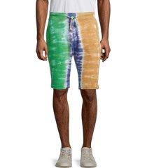 american stitch men's tie-dye bermuda shorts - size m