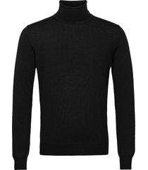 lyd merino turtleneck sweater knitwear turtlenecks zwart j. lindeberg