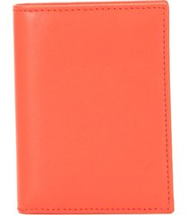 comme des garçons wallet bi-fold cardholder wallet - orange