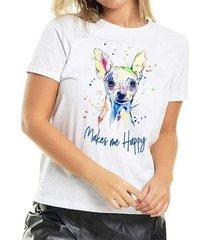 t-shirt pinscher colors buddies feminina - feminino