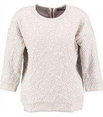 vero moda beige padded sweater 3/4 mouw