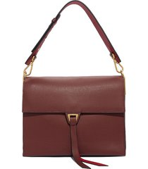 coccinelle designer handbags, dark red louise maxi shoulder bag