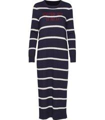 heavy knit dress knälång klänning blå marc o'polo
