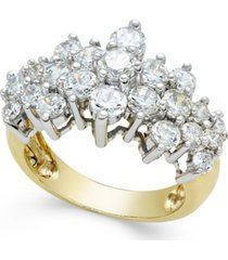 diamond pyramid ring (2-1/2 ct. t.w.) in 14k gold