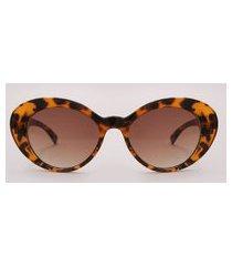 óculos de sol oval feminino emi beachwear tartaruga