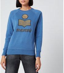 isabel marant étoile women's milly sweatshirt - blue - fr 40/uk 12