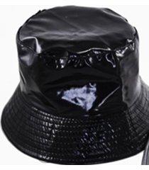 sombrero negro almacén de parís charol