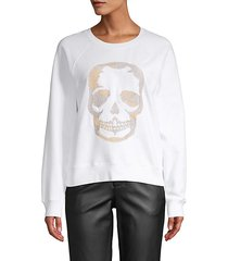 embroidered skull cotton sweater