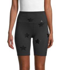 nanette lepore women's star-print biker shorts - black - size xl