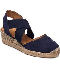 cele_21_ks sandalette med klack espadrilles blå unisa