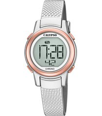 reloj digital crush gris calypso