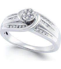 diamond swirl promise ring (1/4 ct. t.w.) in sterling silver