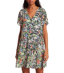 parker women's savanah floral shift dress - juniper garden - size xxs