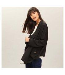 lez a lez - jaqueta ampla em tecido preto reativo
