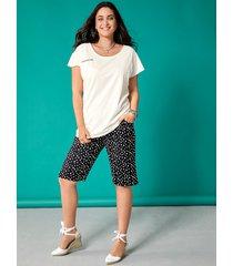 shorts miamoda svart::vit