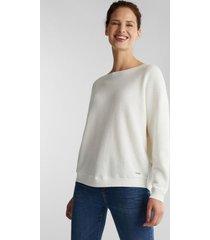 sweater mujer texturado blanco esprit