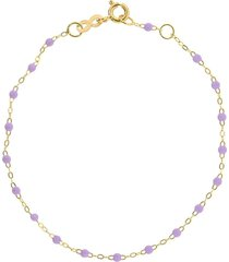 gigi clozeau 18kt yellow gold classic gigi lilac beaded bracelet